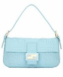 Fendi Blue Leather Baguette 8BR000
