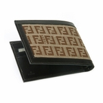 Fendi Brown Leather FF Logo Wallet 85580