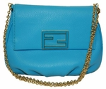 Fendi 'Fendista' Pouchette Baby Leather Baguette Chain Handbag 8m0276 Shoulder Bag