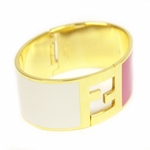 FENDI Large White/Pink Gold Metal Bracelet 8AG137