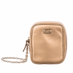 Fendi Gold Leather Wristlet 7AR219