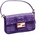 Fendi Purple Leather Baguette 8BR000