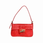 Fendi Red Leather Baguette 8BR000