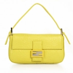Fendi Yellow Leather Baguette 8BR000