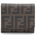 Fendi Zucca Pink leather wallet for Women