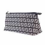 Fendi Black Canvas Zucchino Make Up Case 7N0038