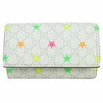 Gucci 138093 Gucci Mirco Star Key Case White Leather