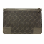 Gucci 150415 Brown Canvas and Leather Cosmetic Makeup Case Small