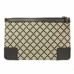 Gucci 150415 Diamante Canvas and Leather Cosmetic Makeup Case Small