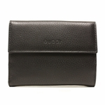 GUCCI 180866 Gucci Women's Folio Black Leather Wallet