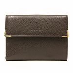 GUCCI 180866 Gucci Women's Folio Brown Leather Wallet