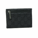 GUCCI 217050 Gucci Black Denim GG Logo Coin Purse