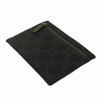 Gucci 217050 Gucci Brown Denim GG Logo Coin Case Purse