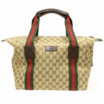 Gucci Carry On Travel Bag GG Logo Web Duffle Bag 235135