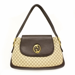 GUCCI 251811 'Gucci 1973' Diamante Brown Leather Shoulder Bag