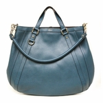 GUCCI 268641 Gucci Teal Leather Abbey Convertible Tote Bag