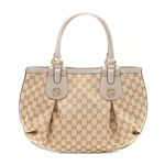 GUCCI 269953 Gucci Scarlett Medium Ivory Leather Tote Bag
