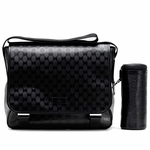 GUCCI 270794 Mama's Bag Black Imprime Leather Diaper Bag