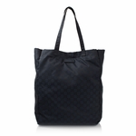 Gucci 281487 Mama's Bag Navy Nylon GG Logo Shopping Tote Bag