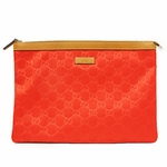 GUCCI 286209 Gucci Red Large Zip Top Pouch Bag