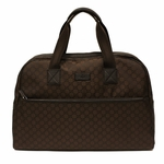 Gucci 293573 XL Brown Nylon GG Logo Travel Luggage Bag
