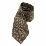 GUCCI 294704 Gucci Men's Horsebit Brown Silk Tie