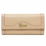 Gucci Script Continental Pink Leather Wallet 294977