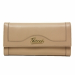 Gucci Script Continental Women's Pink Leather Wallet 294977