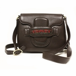 Gucci Dressage Brown Leather Crossbody Shoulder Bag 296854