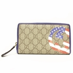 GUCCI 304196 Gucci Women's USA Flag Zip Wallet