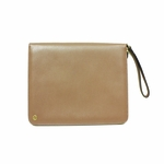 Gucci 309673 Leather Executive Portfolio Zippered iPad Case with Strap