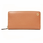 GUCCI 309705 Gucci Betty Coral Leather Zip Around Women's Wallet