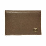 GUCCI 309712 Brown Leather ID Wallet with Interlocking GG Logo