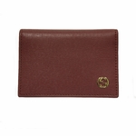 GUCCI 309712 Leather ID Wallet Card Holder with Interlocking GG Logo