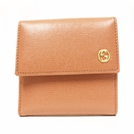 GUCCI 309720 Gucci French Flap Women's Leather ID Wallet