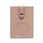 Gucci 338331 Gucci Soho Soft Pink Patent Leather Card Case 338331