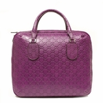 Gucci 341505 Gucci Purple Leather Guccissima Briefcase Laptop Bag