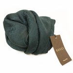 GUCCI 362653 GG Logo Gucci Hunter Green Wool/Cashmere Silk Scarf