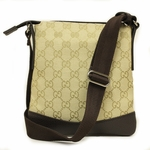 Gucci 374416 GG Logo Small Canvas and Leather Crossbody Messenger Bag