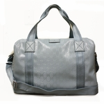 Gucci 374769 GG Logo Imprime Leather Duffle Bag Carry-On 374769