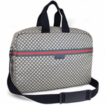 GUCCI 374770 Gucci Large Web Diamante Duffel Travel Bag Unisex