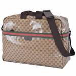 GUCCI 374770 Gucci XL Web Duffel GG Logo Unisex Travel Bag