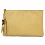 Gucci 376858 Gucci Tan Brown Leather Large Tassel Clutch Bag 376858