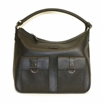 Gucci Black Leather Two Pocket Abbey Handbag 293581
