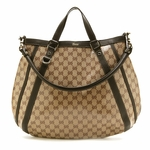 Gucci Abbey Tote Beige Crystal Convertible 268641