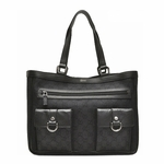 Gucci Abbey Tote Black Denim 268639