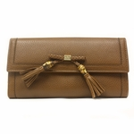 Gucci Bamboo Tassel Continental Leather Wallet 269981