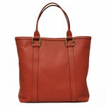 Gucci Bamboo Top Handle Large Coral Leather Portfolio Business Tote Bag 339547