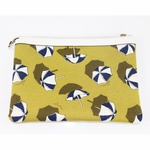 Gucci Beach Umbrella Yellow Canvas and Leather Cosmetic Bag 282071