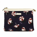 Gucci 'Beach Umbrella' Zip-Top Pouch 282071, Navy Blue